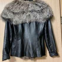 Куртка жилет кожаный с чернобуркой, в Нарьян-Маре