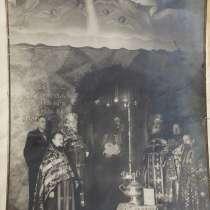 Фотография с освящением Рождественского вертепа. 1948 год, в Санкт-Петербурге