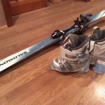 Горные лыжи и ботинки женские, в Челябинске