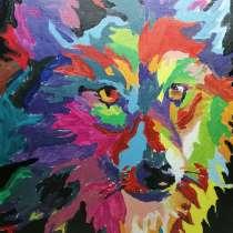 Картина волк, в Новосибирске