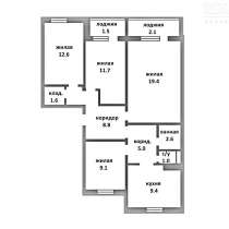 Продается 4-комнатная квартира в г. Фаниполь, в г.Минск