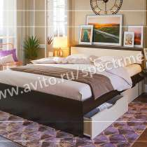 Кровать с ящиками и с матрасом, в Москве
