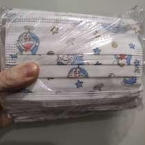 Детские маски защитные одноразовые с принтом. Упаковка 50шт, в г.Минск