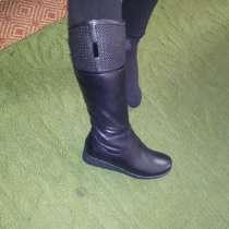 Кожаные новые сапоги 36 размер, в г.Бишкек