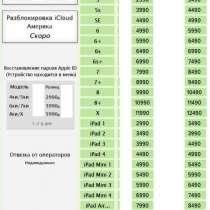 Удаление iCloud официально, в Челябинске