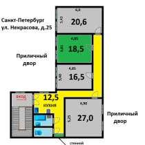 Продам в центре комнату 18.5 м в 4-х комнатной квартире, в Санкт-Петербурге
