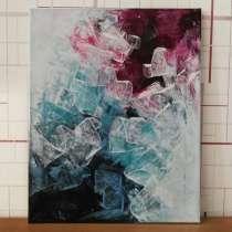 Картина Абстракции. Холст, акрилом. 40×50 см, в г.Костанай