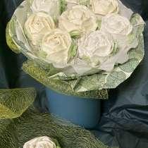 Съедобный букет из зефирных роз, в Москве