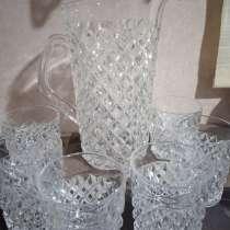 Продаю стеклянный набор, графин и 6 стаканов СССР, в г.Бишкек