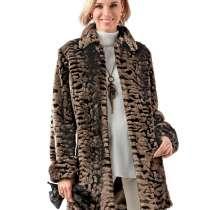Продам утепленное полу-пальто из искусственного меха, в Москве