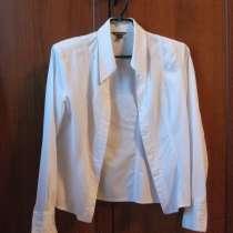 Две белых рубашки из хлопка. Размер 40–42 (XS), в Александрове