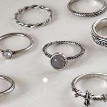 Набор серебряных колец(метал), в Якутске