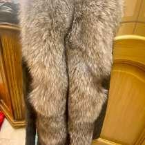 Женская куртка-трансформер из натуральной кожи с ремнём, в Москве