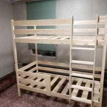 Кровати двухъярусные из чистого дерева), в Сыктывкаре