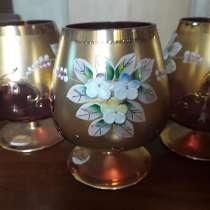 6 бокалов богемского стекла, в Москве