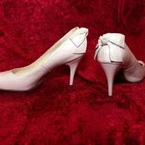 Белые новые туфли из натуральной кожи, в Кимре