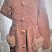 Бежевое вязаное пальто, в Ефремове