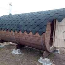 Баня бочка из кедра под ключ 3,4,5,6 метров, в Казани