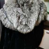 Женская шуба из бобра с чернобуркой, в Москве