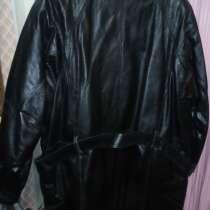 Мужская Куртка кожаная, утеплённая, (удлинённая) (новая), в Белгороде