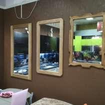 Зеркало из массива дуба, ясень, в Казани