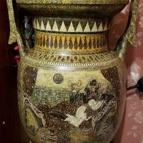Большая ваза с крышкой.1м.14см. Гончарная работа(глина), в г.Киев