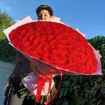 Цветы в Липецке букет 135 роз, в Липецке