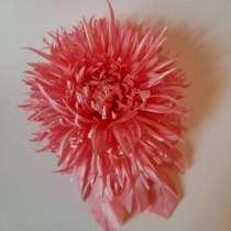 Брошь-хризантема, из ткани, в Вырицах