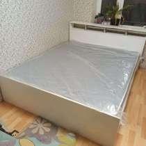Кровать 1,4 м с матрасом новая, в Санкт-Петербурге