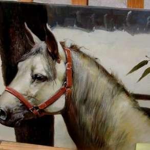Лошадь, 50х60см, Картина маслом на холсте, Живопись художник, в Москве
