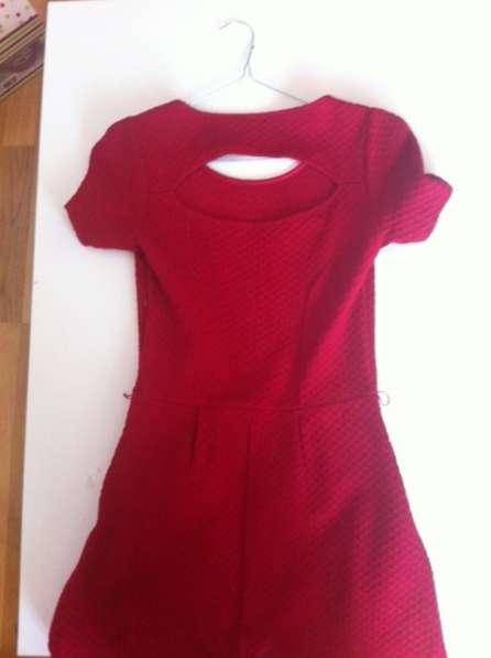 Красное платье-солнце с рельефной тканью, OASIS