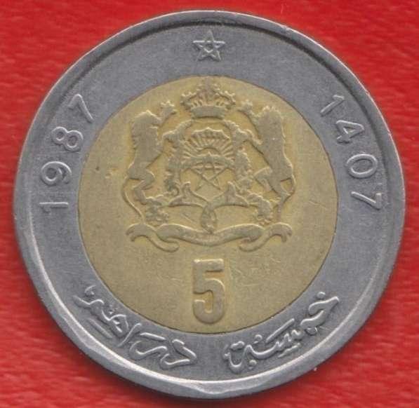 Марокко 5 дирхам 1987 г.
