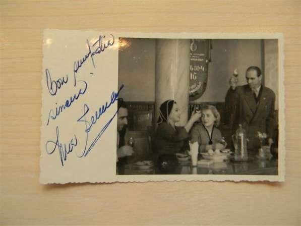 Автограф певицы Имы Сумак на своем фото, 1961г