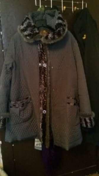 куртка отделанная мехом норочки раз54-58