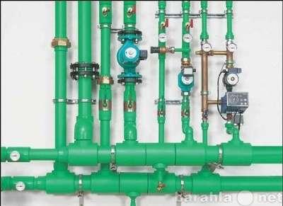 Котлы, радиаторы, трубы для отопления.