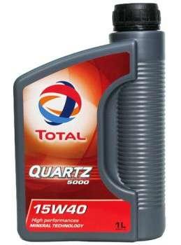 Моторное масло total quartz 5000 15W-40 минер. 1л