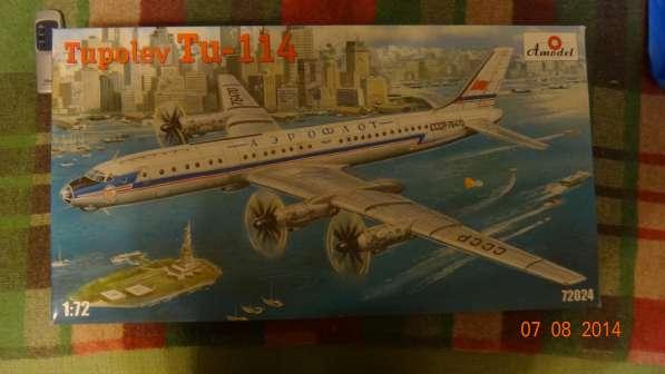 Сборная модель пассажирского лайнера Ту-114 Amodel