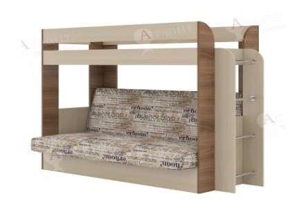Кровать двухъярусная с диваном Атлант