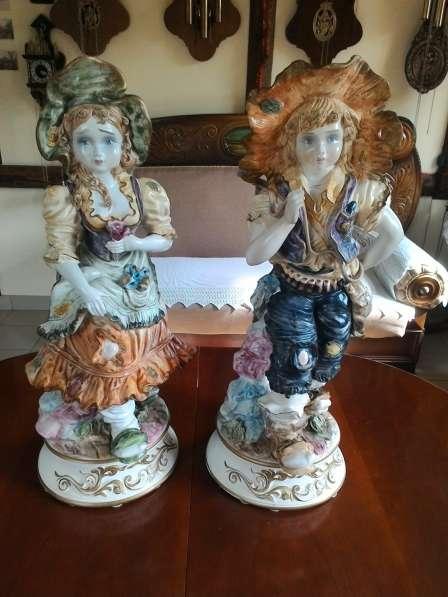 Парные фафроровые статуэтки Италия 68 см