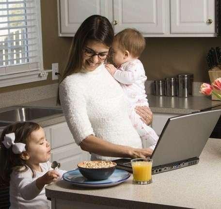 Работа на дому для активных домохозяек