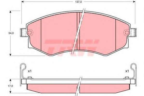 Колодки тормозн. передние HYUNDAI TRW GDB895