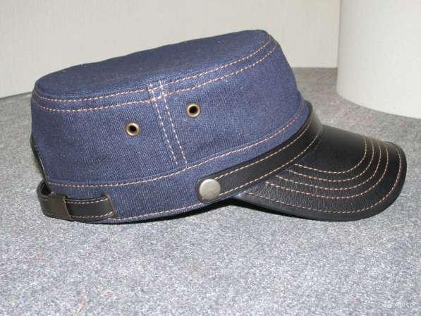 """Кепка """" Немка """" из джинсовой ткани, синяя"""