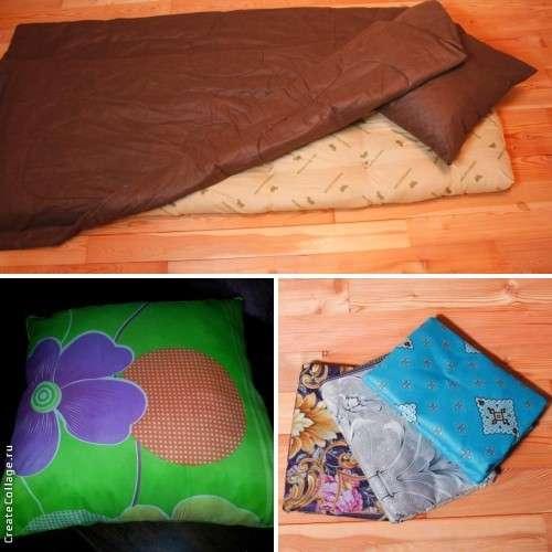 Матрацы, подушки и одеяло эконом вариант