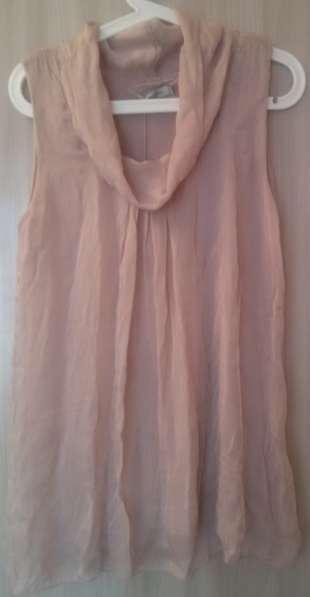 Блузка-топ-туника, натуральный шёлк, р-48 (L)