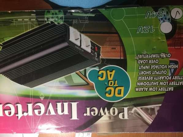 Инвертор, преобразователь с 24 на 220 вольт, 1200ватт