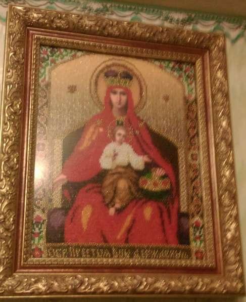 Вышивка бисером Икона Богородица