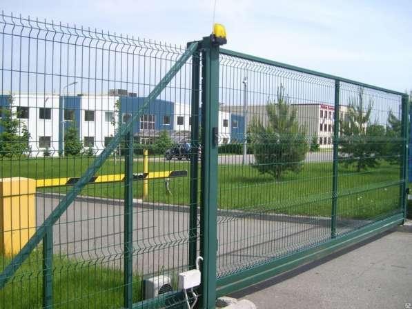 Откатные распашные ворота из сварной 3Д сетки