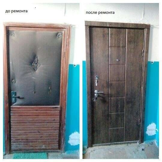 Ремонт входных дверей, замена замков и отделки