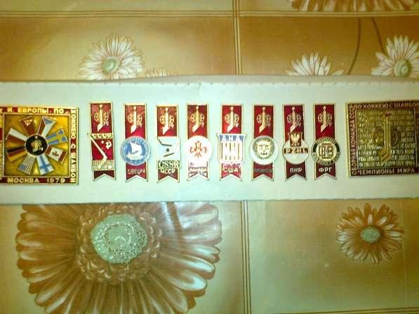 Набор значков. Чемпионат мира и Европы по хоккею 1979 г