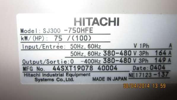 Преобразователи частоты Hitachi sj300-750hfe
